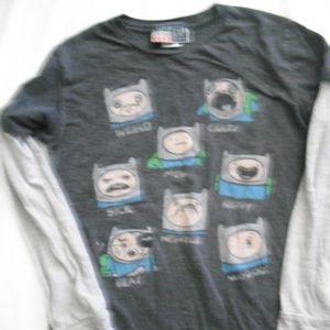 Boys Adventure Time Finn Size 10 Long Sleeve Tee